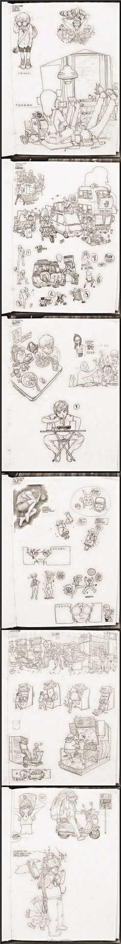 2008 Sketchbook by bibo X, via Behance