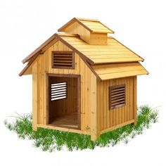 Unique Dog House you wont find at your local home center! # vents for alr flow comfort.