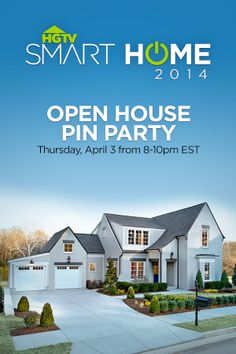 Join us Tonight 8-10pmET as we pin our favorite designs from HGTV Smart Home 2014 -->  http://www.pinterest.com/hgtv/hgtv-smart-home-2014-pin-party/