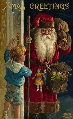 Be good kid, or I'll beat you with this sack of toys I took from the other lousy children. <--threatening Santa is threatening