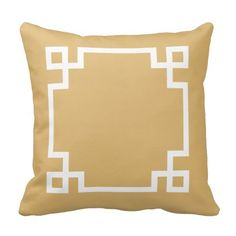 Gold and White Greek Key Pillows