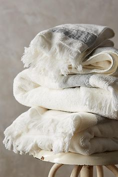 Linen-Edged Towel Collection - anthropologie.com