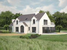 Paul McAlister Architects - The Barn Studio, Portadown Houses In Ireland, Holland, Modern Barn, Exterior Remodel, House Extensions, Modern House Plans, Florida Home, White Houses, Sustainable Design