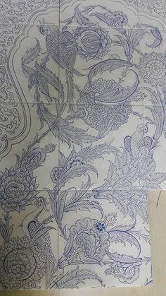 Kalamkari Painting, Madhubani Painting, Pattern Drawing, Pattern Art, Islamic Art Pattern, Persian Pattern, Pattern Coloring Pages, Pencil Design, Indian Folk Art