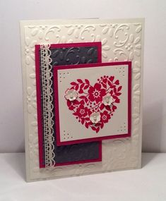 CC618 Lace and Pearls by snowmanqueen - Cards and Paper Crafts at Splitcoaststampers