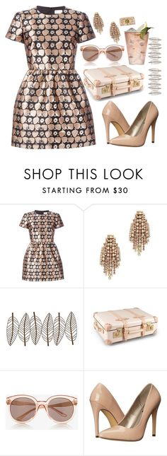 """Untitled #371"" by lbenigni ❤ liked on Polyvore featuring RED Valentino, Elizabeth Cole, New View, Globe-Trotter, Express, Margarita, Michael Antonio and Clips"