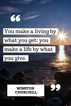 It's what you give