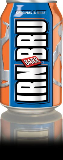 Irn Bru is a famous soda. It is orange but tastes like bubble gum. You have to try it if you go. #irnbru
