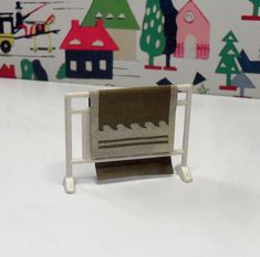 Vintage 1970 Barton Carolines Home Towel Airer and Towel Television Cabinet, 14 Year Old, Bank Holiday, New Furniture, Towel, Homemade, Dolls, Children
