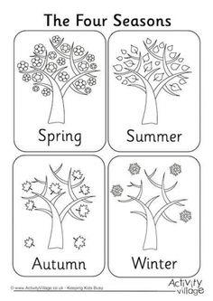 match the four seasons homeschooling pinterest worksheets