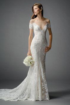 Beautiful all lace wedding dress by Watters, Fall 2015