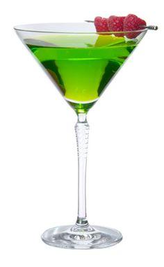 Midori Cosmopolitan - Midori, lemon vodka, cranberry juice, lemon juice