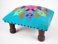 Marigold - Gateway to India Clothing, Accessories, Gifts, Home and Jewelry Marigold, Ottoman, Stool, India, Gifts, Home Decor, Goa India, Presents, Decoration Home