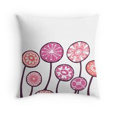 """Candy flowers"" Throw Pillows by ptitsa-tsatsa 