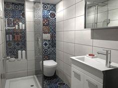 ΑΛΛΑΞΤΕ ΥΦΟΣ ΣΤΟ ΜΠΑΝΙΟ – ebathnet Patchwork Tiles, Bathroom Design Small, Small Bathrooms, Bathroom Designs, Laundry In Bathroom, Dream Rooms, Color Pop, Toilet, New Homes