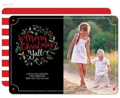 Merry Christmas y'all photo holiday card | Swanky Press