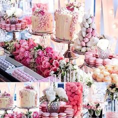 Wedding cake and sweets table by #sweeteventstyling