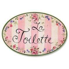 Pink 'La Toilette' Wall Plaque