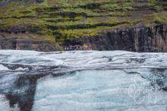 Scale. Vatnajokull Glacier, South Coast, Iceland. Shot with: DSLR