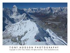 Summit view from Island Peak, Nepal