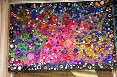 Plastic lid mosaic in Fort Morgan, CO
