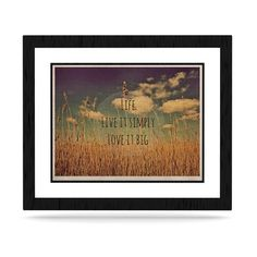 "Alison Coxon ""Life"" KESS Naturals Canvas (Frame not Included) 