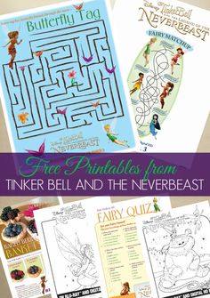 Tinker Bell and the NeverBeast free coloring pages and printable activities. #TinkandNeverBeast #collectivebias #ad