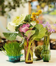Yellow and Brown Utah LDS Wedding Vegetable Centerpieces Edible Centerpieces, Simple Centerpieces, Edible Arrangements, Wedding Centerpieces, Centerpiece Ideas, Wedding Decorations, Colorful Vegetables, Veggies, Real Weddings
