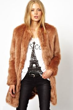 22 Faux Fur Coats For A Wildly Warm Winter #refinery29  http://www.refinery29.com/59635#slide5  ASOS Longline Lux Faux Fur Coat, $72.60, available at ASOS.