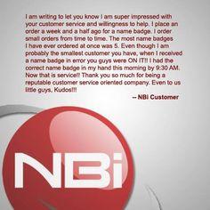 Name Badges International Customer reviews
