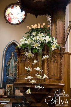 Addobbi floreali per cerimonie di matrimonio a Stresa chiesa Carciano