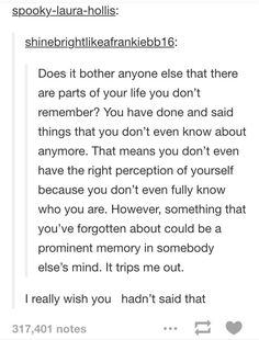 I hadn't thought about this until now and it truly bothers me. A nice reminder to watch what you say.