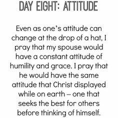 Day eight of praying