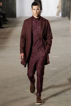 Todd Snyder Fall 2016 Menswear Fashion Show. Beautiful shade of oxblood on that coat.