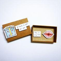 Compleanni - Surprise gift Card Matchbox, Greeting Card, Gift - un prodotto unico di Jung-Tran-Jung su DaWanda