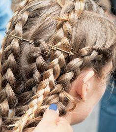 Cupid's arrow braids