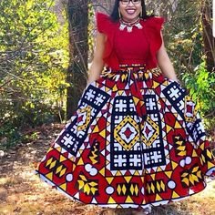 Here are some lovely ankara gowns with different styles and designs to make your fashion look stylish the more. African Wear Dresses, Latest African Fashion Dresses, African Print Fashion, African Attire, African Outfits, Ankara Fashion, South African Traditional Dresses, African Blouses, Shweshwe Dresses