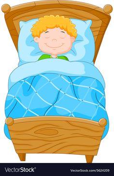 Cartoon little boy fell asleep vector image on VectorStock Preschool Education, Preschool Games, Teaching Kids, Kids Learning, Cutting Activities, Learning Activities, School Board Decoration, Felt Doll House, Flashcards For Kids