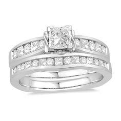 14K White Gold Oriana Bridal Wedding Set   Rogers Jewelry Co.