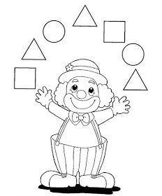 Crafts,Actvities and Worksheets for Preschool,Toddler and Kindergarten.Lots of worksheets and coloring pages. Clown Crafts, Carnival Crafts, Shape Worksheets For Preschool, Shapes Worksheets, Fall Preschool, Preschool Activities, Circus Crafts Preschool, Circus Activities, Shape Coloring Pages