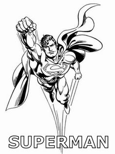 Superman Flying, Superman, Coloring Pages - Free Printable Ideas from Family Shoppingbag.com