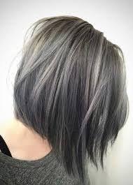 Resultado de imagen de reflejos plateados pelo castaño con crecimiento canas