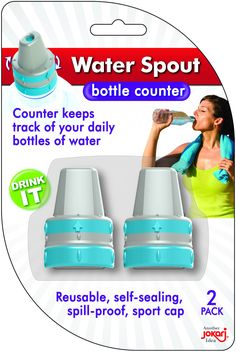 Water Spout, 2 pack – Jokari Water Bottle Caps, Bottle Top, Counter Counter, Water Spout, What In My Bag, Drinking Water, Packing, Dark, Sport