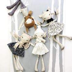 """223 Likes, 18 Comments - These Little Treasures Dolls (@these.little.treasures) on Instagram: """"Some playful new woodland Mini Friends dolls are online now These little guys are ready to ship -…"""""""