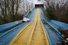 Abandoned water slide Dadipark Dadizele, Belgium