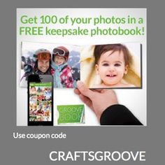 You will get your first book absolutely free (including shipping and processing) Use code-   CRAFTSGROOVE http://www.crafts-things.com/2013/05/groovebook-get-free-photo-book-now.html