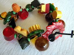 Diminutive Bakelite Button Bracelet by lorimarsha