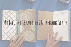 Today I'll be sharing my Midori Travellers Notebook setup.