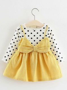 4911203b1 Keelorn Baby Girl Dress 2019 New Casual Autumn Baby Clothes Long Sleeve  Plaid Bear Straps Fake Two Piece Dress baby girl clothes