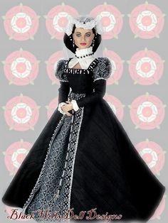 Black Hills Doll Designs.  Elizabethan Gown